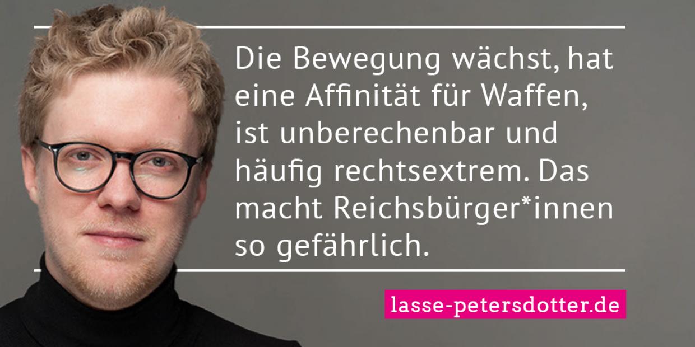 Lasse Petersdotter - Statement Reichsbürger*innen