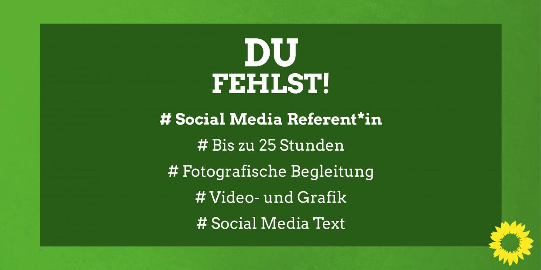 Ausschreibung Social Media-Referent*in (m/w/d) - Klick für Weiterleitung zur Ausschreibung
