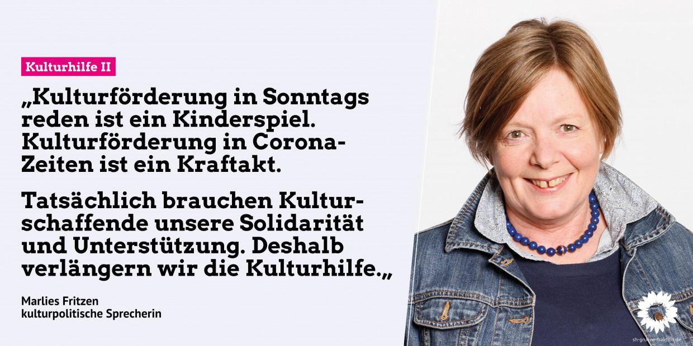 Portrait von Marlies Fritzen mit dem Text der Presseinformation