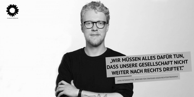 """Lasse PEtersdotter: """"Wir müssen alles dafür tun, dass unsere Gesellschaft nicht weiter nach rechts driftet."""""""