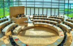 Plenarsaal im Landtag Schleswig-Holstein