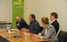 Manuel Sarrazin, Bernd Voß, Jan Diedrichsen und Dr. Esther Ademmer diskutierten