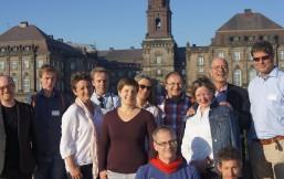 Gruppenbild der Fraktionsdelegation mit Rasmus Nundquist von der Alternativet