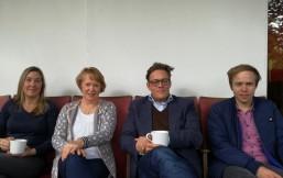 v.l.: Constanze Kurz, Doris Weßels, Konstantin von Notz, Rasmus Andresen